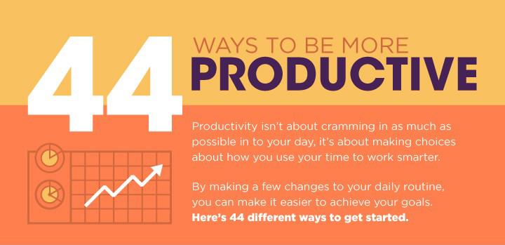 44 Tipps für einen produktiveren Tag