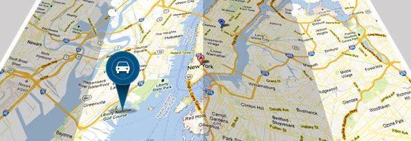 GPS auf Landkarte