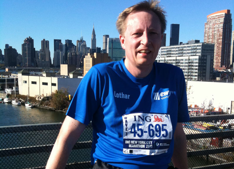 Lothar Bökamp beim New York Marathon