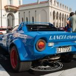 Die offene Auspuffanlage des Lancia Stratos – Fans nennen sie auch »die Trompeten« – sorgen bei jedem Gasstoß für den unvergleichlichen infernalischen Klang.