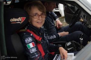 Fabricia Pons (Ex-Copiloten von Michelé Mouton) ist auch heute noch als Beifahrerin bei historischen Rallyes aktiv.