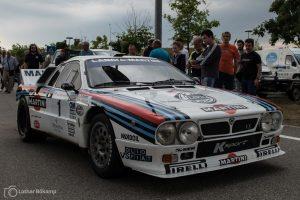 Quasi der Nachfolger des Lancia Stratos: Der Lancia Rally 037 – hier mit Marco Bianchini am Steuer.