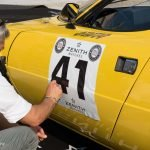 Auch der »Stradale«, die Straßenversion des Lancia Stratos', erhält beim World Stratos Meeting seine Startnummer.